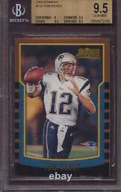 2000 Bowman 236 Tom Brady BGS 9.5 Gem Mint RC Rookie Card