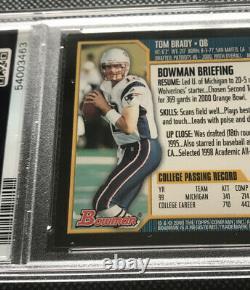 2000 Bowman #236 Tom Brady Patriots Bucs RC Rookie PSA 7 NM Beautiful Card