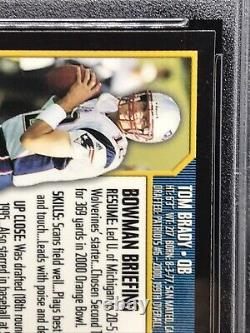 2000 Bowman Chrome #236 Tom Brady Rookie Card PSA 10 GEM MINT RC Patriots