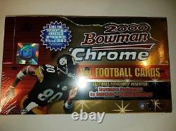 2000 Bowman Chrome Football Hobby Box Tom Brady RC Factory Sealed Refractor QTY