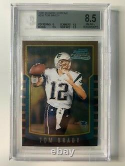 2000 Bowman Chrome Tom Brady BGS 8.5 with 9.5's (8 9.5 9.5 8.5) #236 Rookie RC