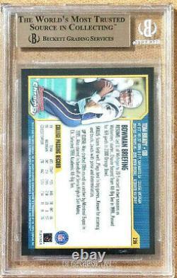 2000 Bowman Chrome Tom Brady BGS 9.5 (Gem Mint) #236 #7773807 Patriots RC with 10