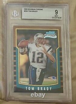 2000 Bowman Chrome Tom Brady Rookie BGS 9 #236 RC Beautiful Looks like a PSA 10