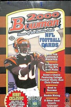 2000 Bowman Football Sealed Hobby Box