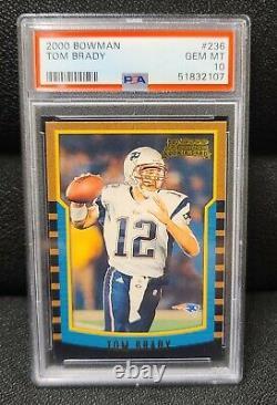 2000 Bowman Tom Brady 236 Rookie Card RC PSA 10 Gem Mint Patriots