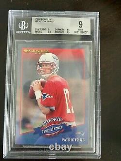 2000 Donruss Tom Brady Rookie #230 Graded BGS 9 Mint 9.5 Sub /1325 Patriots RC