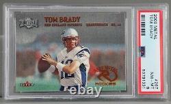 2000 Metal #267 Tom Brady Rc Psa 8 Nm-mt Nice Clean Case