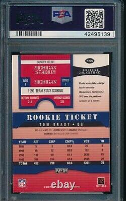 2000 Playoff Contenders #144 Tom Brady Rookie Card PSA 7.5 Auto 10 LOW POP 5