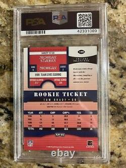 2000 Playoff Contenders #144 Tom Brady Rookie Card PSA 7 NM Auto 10 NFL