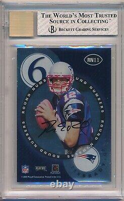 2000 Playoff Contenders Tom Brady Auto Rookie #11 RC Round Numbers BGS NrMt+