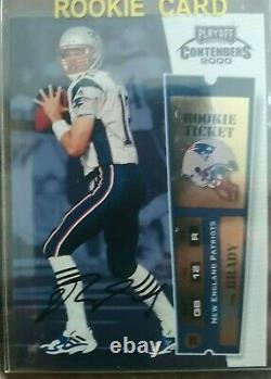 2000 Playoff Contenders Tom Brady RC ROOKIE TICKET GOAT! $$ 7