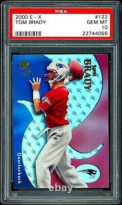 2000 Tom Brady Fleer E-X /1500 Rookie RC #122 PSA 10 Gem Mint Low Pop