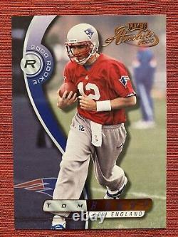 2000 Tom Brady Playoff Absolute RC Rookie 1217/3000 Patriots Bucs MVP