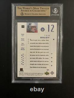 2000 Tom Brady SP Authentic 617/1250 BGS 9.5 GEM MINT with10 Centering! PSA 10
