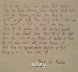 2000 Tom Brady Ultimate Victory Rookie Parallel Gold Pop 1 of 9 Psa10 plz read