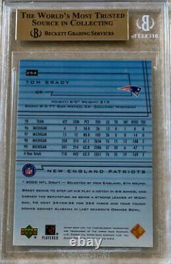 2000 Upper Deck #254 Tom Brady RC Rookie Gem MINT BGS 9.5 HOF