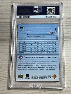 2000 Upper Deck Football Tom Brady ROOKIE RC #254 BGS PSA 8 NM-MT Blue Insert