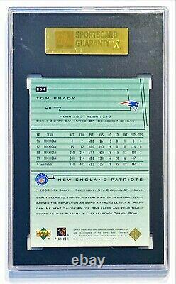 2000 Upper Deck U. D. Encore TOM BRADY #254 Refractor Rookie RC SGC 9 Mint (96)