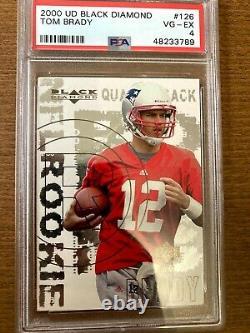 2000 black diamond #126 Tom Brady PSA 4 (VG-EX) Rookie