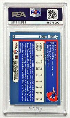 2003 Topps Chrome TOM BRADY #124 PSA 9 Mint! Early Brady Chrome