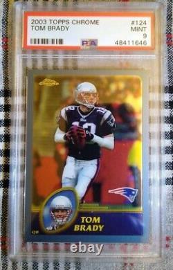 2003 Topps Chrome Tom Brady #124 Pats Bucs PSA 9 MINT