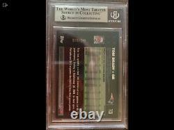 2007 Topps Chrome Football #TC6 Tom Brady White Refractor BGS 9 Mint