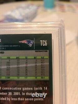 2007 Topps Chrome Tom Brady Refractor #TC6 PSA 9