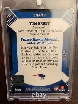 2007 Topps Finest TOM BRADY Auto Refractor Moments Card #d 25 PATRIOTS