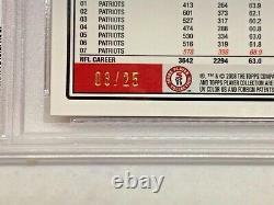2008 Topps Chrome Tom Brady Red Refractor #TC3, SN#03/25, PSA 9, Pop of 3, RARE