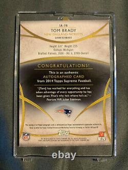 2014 Topps Supreme TOM BRADY AUTO New England Patriots /20 Card #SA-TB