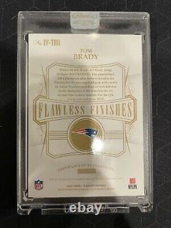2020 Flawless Tom Brady Super Bowl MVP Inscription Auto Patriots #06/10