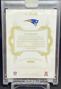 2020 Panini Flawless Football Tom Brady Dual Patch Auto Sapphire Parallel #/3