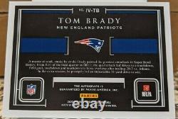2020 Panini Impeccable Victory Tom Brady On Card Auto /5, Patriots