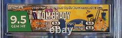 2020 Tom Brady HGA 9.5 Gem Mint Donruss Optic Downtown DT-22 SSP SP Case Hit