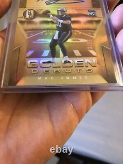 2021 Gold Standard Mac Jones Golden Debut Rookie Auto SSP 13/25 Patriots