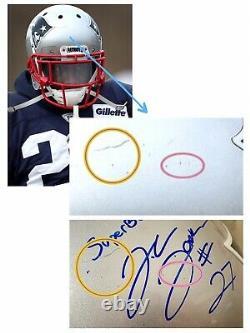 J. C. Jackson Rookie Super Bowl 53 Game Used Worn New England Patriots NFL Helmet