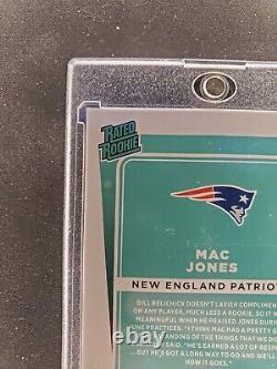 MAC JONES AUTO Orange SSP RATED ROOKIE 2021 Donruss Football #255 RC Patriots