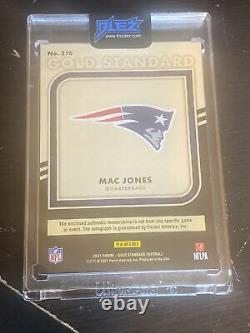 Mac Jones 2021 Gold Standard Auto Rookie RPA Card #/22 Patriots 4 Color 3 Patch