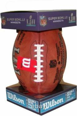 NFL Super Bowl 52 Authentic Wilson Game Football with Eagles & Patriots Inscribed