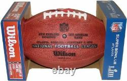 Super Bowl 53 LIII Official Leather Football Patriots Rams Date Engraved on Ball