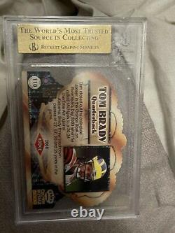 TOM BRADY 2000 PACIFIC CROWN ROYALE BGS 9.5 GEM MINT ROOKIE CARD #110 With 10 SUB