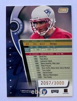 TOM BRADY 2000 Playoff Absolute RC Rookie Card #195 2097/3000