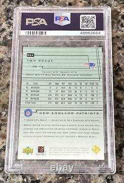 TOM BRADY 2000 Upper Deck Rookie Card PSA 8 RARE Encore RC! GOAT SB MVP