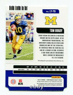 TOM BRADY 2021 Panini Contenders Draft Legacy Ticket Auto Autograph Card SP 4/10