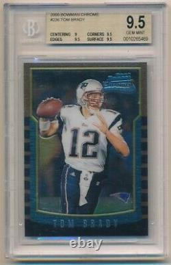 Tom Brady 2000 Bowman Chrome #236 Rc Rookie Card Patriots Sp Bgs 9.5 Gem Mint