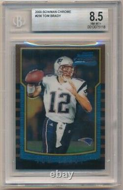 Tom Brady 2000 Bowman Chrome #236 Rc Rookie New England Patriots Bgs 8.5 Nm-mt+