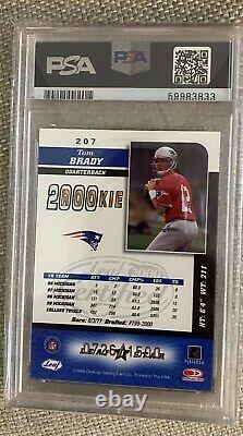 Tom Brady 2000 Leaf Certified RC PSA 8
