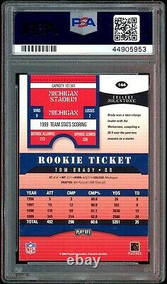 Tom Brady 2000 Playoff Contenders Auto Rookie Ticket PSA Authentic 10 Auto RC