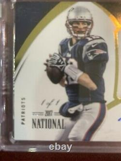 Tom Brady 2015 Panini Immaculate Collection Game Used Number Patch Auto True 1/1