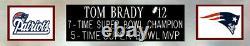 Tom Brady Autographed & Framed Blue Patriots Jersey Auto Fanatics COA